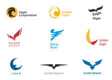 Birds branding symbols vector set Royalty Free Stock Image