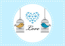 Birds in a cage Royalty Free Stock Image
