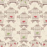 Birds in cages Stock Photos