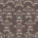 Birds in cages Royalty Free Stock Image