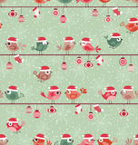 Birds cartoon party christmas design Stock Photo