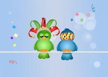 Birds celebrate carnival Royalty Free Stock Photography