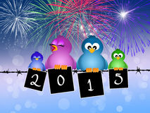 Birds celebrate the New Year Stock Image