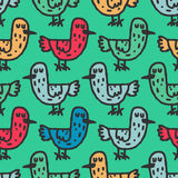 Birds child drawing pattern. Hand drawing ornament. Texture for. Childrens cloth stock illustration