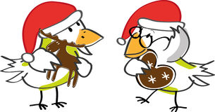 Birds and Christmas Royalty Free Stock Image
