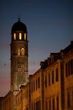 Birds circle Franciscan Monastery, Dubrovnik Stock Photo