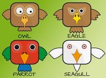 Birds comics square Royalty Free Stock Photos