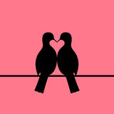 Birds couple forming heart Royalty Free Stock Images