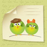 Birds Couple In Love Stock Photography