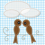 Birds cutout Stock Images