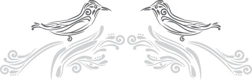 Birds. Decorative element for design Stock Images