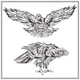 Birds Eagles vintage style Royalty Free Stock Image