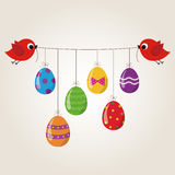 Birds and Easter Egg Royalty Free Stock Photography