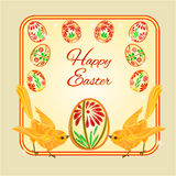 Birds and easter eggs vector Royalty Free Stock Image
