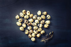 Birds eggs still life.Easter card. Royalty Free Stock Photo
