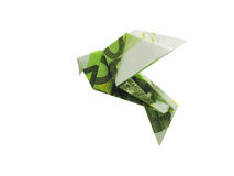 Birds from 100 euro banknotes. Origami birds from 100 euro banknotes Stock Images