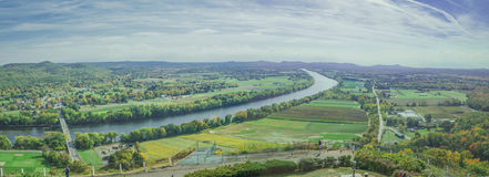 Birds eye panoramic view of countryside of Sunderland. Royalty Free Stock Photo