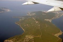 Birds eye view of Aladar island near Istanbul Stock Photo