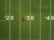 Birds eye view of American football pitch Stock Image