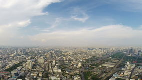 Birds eye view of Bangkok city stock video footage