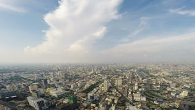 Birds eye view of Bangkok city stock video