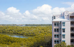Birds eye view of bonita springs florida Royalty Free Stock Image