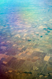 Birds Eye View of Center Pivot Irrigation Farming Royalty Free Stock Images