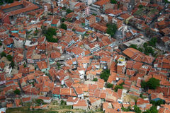 Birds eye view city. Birds eye view of afyon afyonkarahisar city in turkey asia Royalty Free Stock Photos