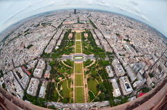 Birds eye view of the city of  ,France Stock Photos