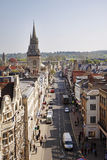 Birds Eye view of the City of Oxford in England Royalty Free Stock Photo