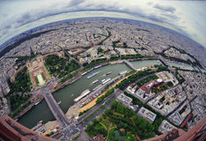 Bird's eye view of the city of Paris ,France ,  photographed fro Stock Image