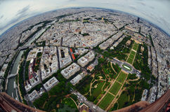 Bird's eye view of the city of Paris ,France ,  photographed fro Stock Photography