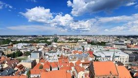 Birds eye view of city, Riga - Latvia Royalty Free Stock Images