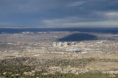 Birds Eye View of Colorado Springs Royalty Free Stock Image