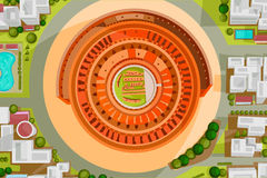 Birds eye view of Colosseum Royalty Free Stock Photo