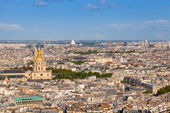 Birds eye view from Eiffel Tower on Paris, France Royalty Free Stock Photography