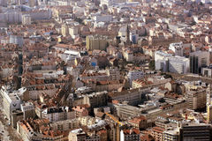 Birds Eye View of Grenoble, France Stock Photography