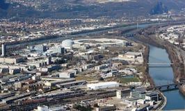Birds Eye View of Grenoble, France Stock Photo