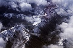 Birds eye view of the Himalayas Stock Photos