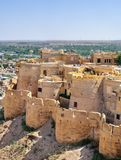Birds eye view of Jaisalmer city from Golden Fort of Jaisalmer, Stock Photography