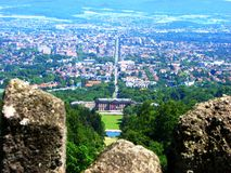 Birds eye view of Kassel city from Bergpark Royalty Free Stock Photography