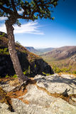 Birds eye view of the Linville Gorge Stock Image