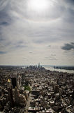 Birds eye view of Manhattan Stock Images