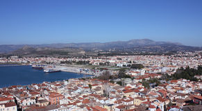 Birds eye view of Nafplio Royalty Free Stock Images