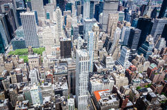 Birds eye view of New York Royalty Free Stock Photo