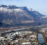 Birds Eye View Of Grenoble, France Royalty Free Stock Photography