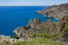 Birds eye view over Antiochia ad Cragum bay Stock Images