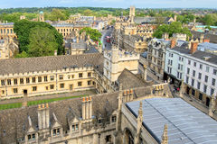 Birds Eye View, Oxford, England royalty free stock photos