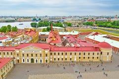 Birds eye view panorama of Saint-Petersburg, Russia Stock Photos
