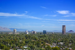 Birds eye view of Phoenix valley, AZ Royalty Free Stock Images